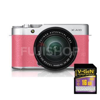 Fujifilm X-A10 Kit XC 16-50mm - Pink