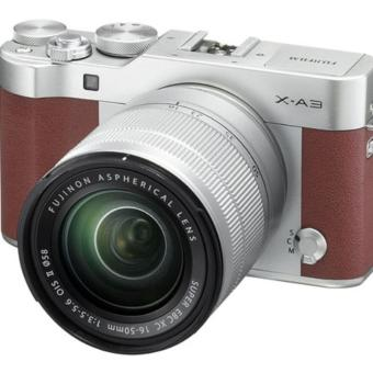 Fujifilm X-A3 Kit Lens 16-50mm Kamera Mirrorless - Brown + Memori 16gb