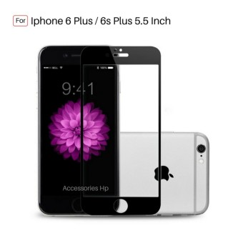 Full Cover Tempered Glass Warna Screen Protector for Iphone 6 Plus / 6s Plus 5.5 inch
