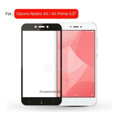 Full Cover Tempered Glass Warna Screen Protector for Xiaomi Redmi 4X / 4X Prime Layar 5.0 inch - Black