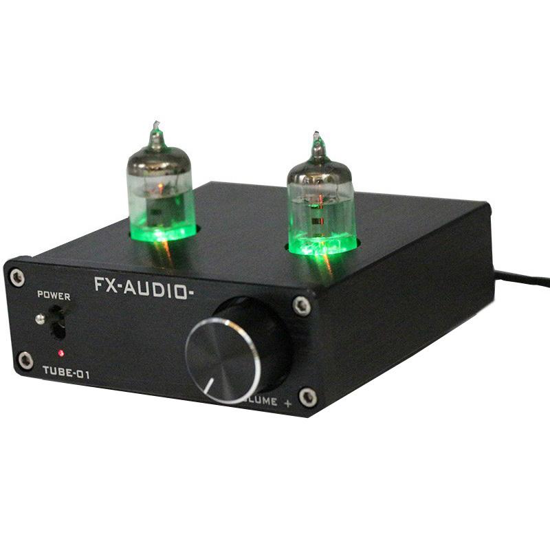 Fx-Audio Vacuum Tube Speaker Pre Amplifier HiFi Audio - Black .