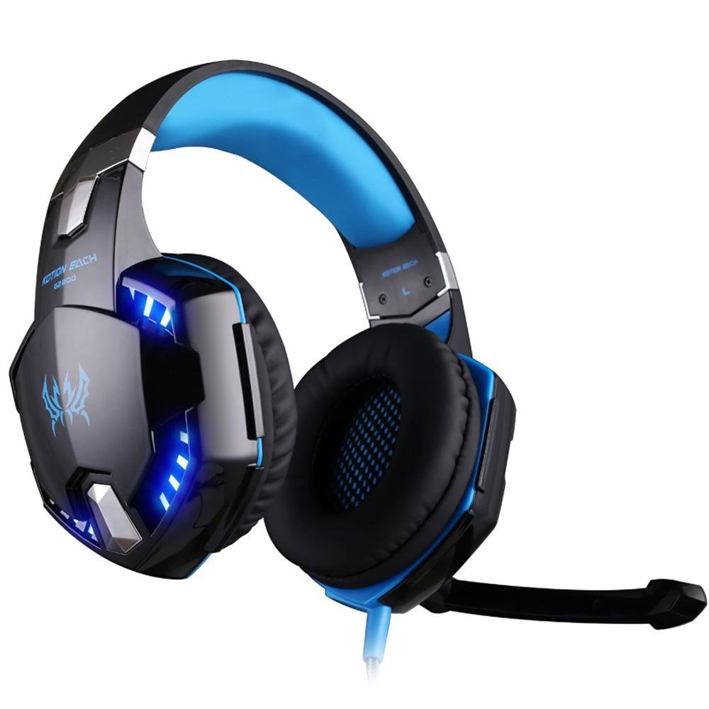 ... G2200 USB 7.1 Surround Sound Vibration Game Gaming Headphone Computer Headset Earphone Headband with Microphone LED ...
