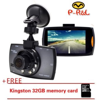 Harga G30 Car Camera Vehicle DVR Dash Cam Full HD 1080P LCD CamcorderVehicle Safeguard Cam Night Vision Recorder +32gb MemoryCarde_black - intl