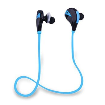 G6 Sweat-proof Bluetooth 4.0 Headset Wireless Stereo Sports Headphone Music Handsfree Earphone With Mic for smartphones (Blue) - Intl