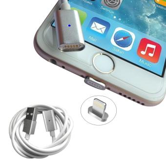 GAKTAI Magnetic Lightning kabel pengisian USB Adaptor Charger untukiphone 6S, iphone 6s Plus, iphone 6, iphone 6 Plus, iphone 5,iphone 5c, iphone 5s (Perak)