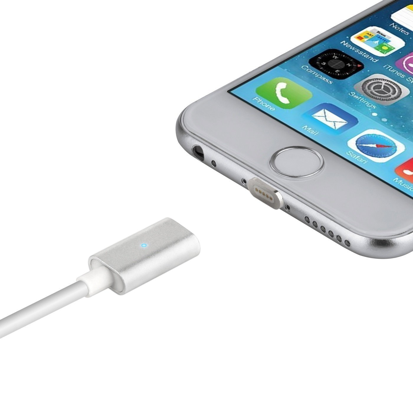 ... GAKTAI Magnetic Lightning kabel pengisian USB Adaptor Charger untukiphone 6S, iphone 6s Plus, iphone ...