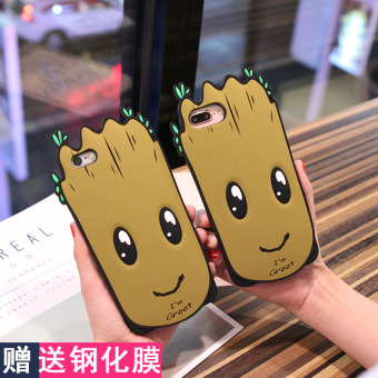 Update Harga Galaxy iphone8/7Plus silikon Apple kartun handphone set handphone shell IDR60,500.00  di Lazada ID