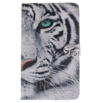 Galaxy Tab S 8.4 Case, SATURCASE PU Leather Flip Magnet WalletStand Card Slots Case Cover for Samsung Galaxy Tab S 8.4 SM-T700Cool Tiger - intl