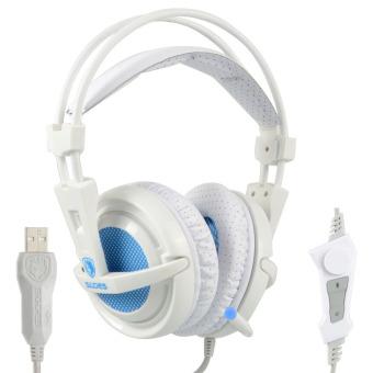 Gaming Headphone SADES A6 Profesional Headset 7.1 Surround USB Getaran MIC