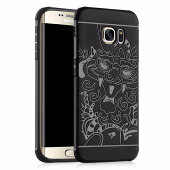 Gerai Case TPU Dragon Back Cover Silikon Original for Samsung Galaxy S6 EDGE - Black