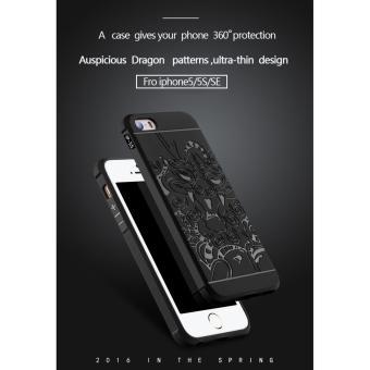 Shock Price Gerai Cocose Drop Resistance Armor Carved Dragon Silikon Back Case For Apple iPhone 5