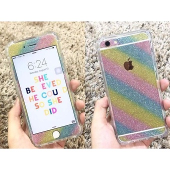 Glitter Skin Case For Vivo V5 - Rainbow