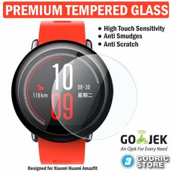 Godric Xiaomi Huami Amazfit PACE Premium Tempered Glass Screen Protector Anti Gores Guard Smartwatch