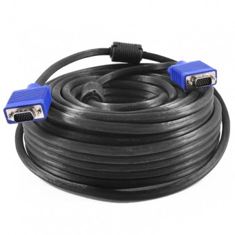 Harga Gold High Quality Kabel VGA Male 25 Meter Cable Proyektor 25m -Hitam