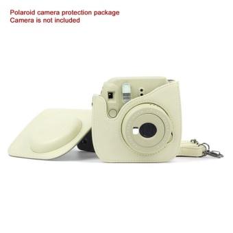 BAIK Tas Kulit untuk Kamera Instan Polaroid Foto Tas Kulit Kamera Kuning-Intl