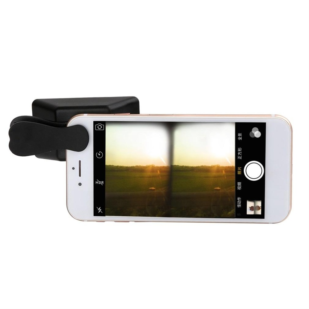 Anggaran Terbaik Good Universal 3d Mini Photograph Stereoscopic Clip Lens Product Macrowidefisheye Hitam Camera For Cell Phone Tablet Intl