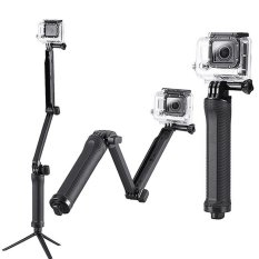 GoPro 3 Way Grip Arm Tripod for GoPro, Brica B-PRO & Xiaomi Yi Camera - Hitam