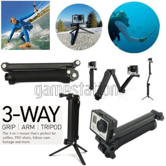 harga Gopro 3-Way Monopod Grip Arm Tripod Brica B-PRO & Yi Action Camera Lazada.co.id