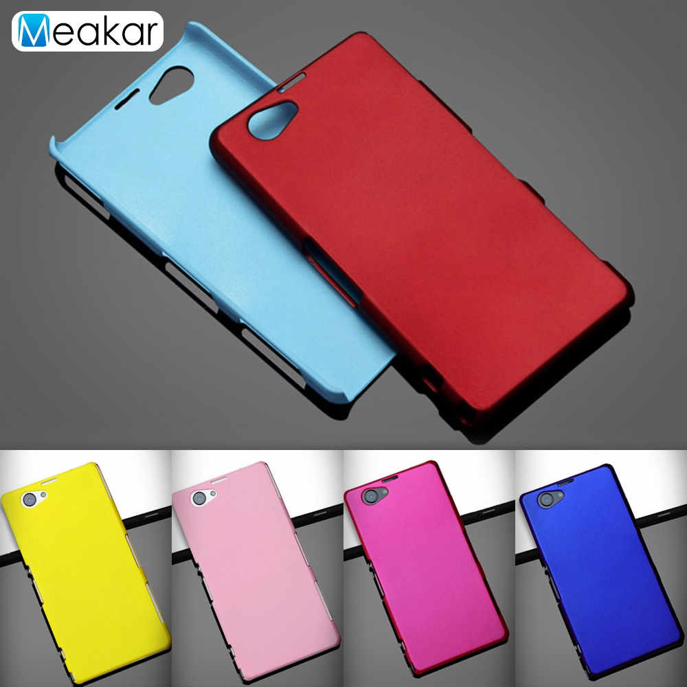 Grind arenaceous Hard Plastic shell 4.3 Phone Cover Case for SONY Z1 Compact .