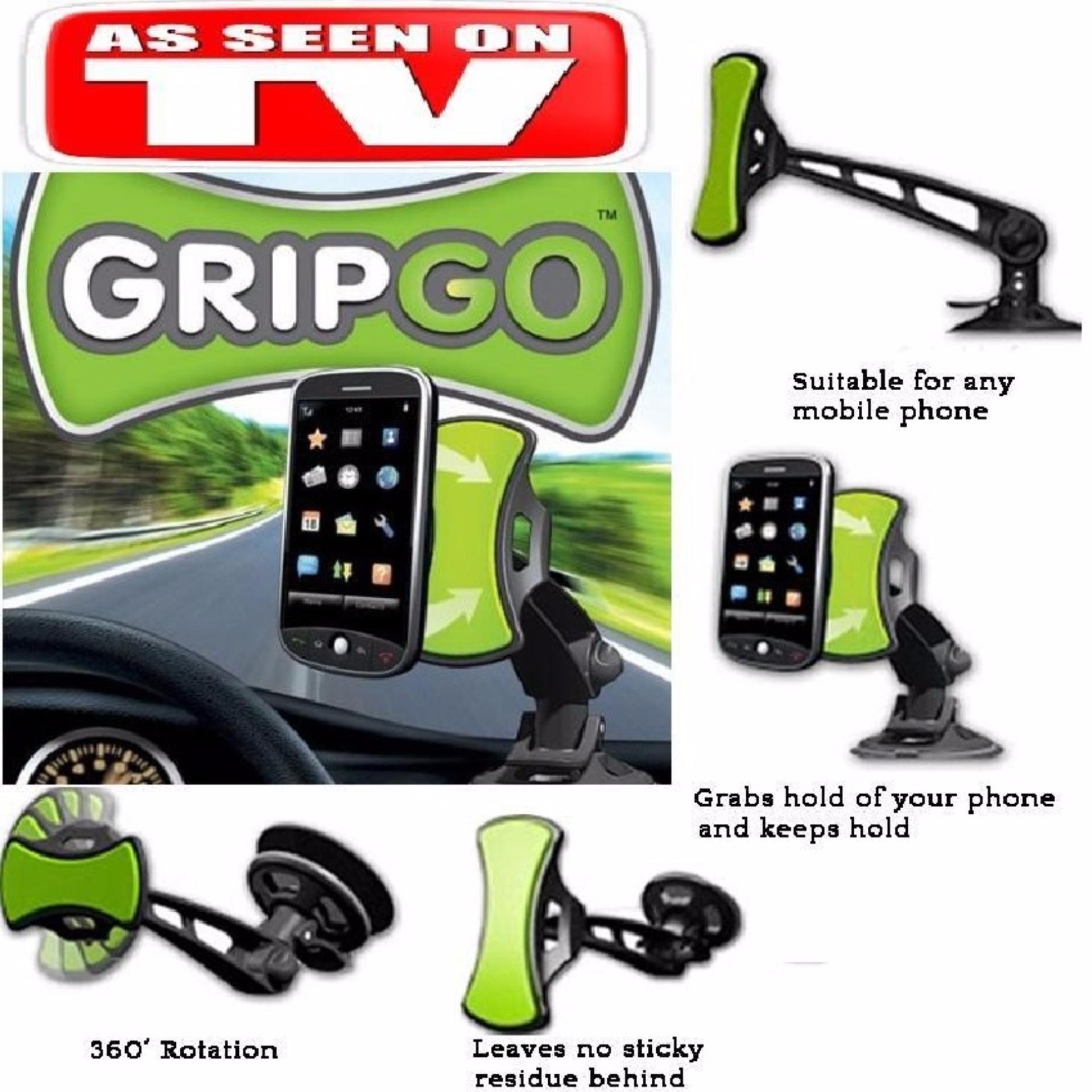 GripGo - Car Mobile Holder ( Smartphone Mountable Holders )Handphone Gps Mobil Kaca Dashboard Mirror