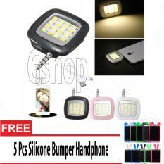Gshop Universal Lampu Selfie 16 LED / LED Flash Selfie 16 LED + 5Pcs Bumper Handphone