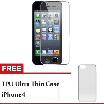 GStation Tempered Glass iPhone 4 + Free TPU Ultra Thin iPhone 4