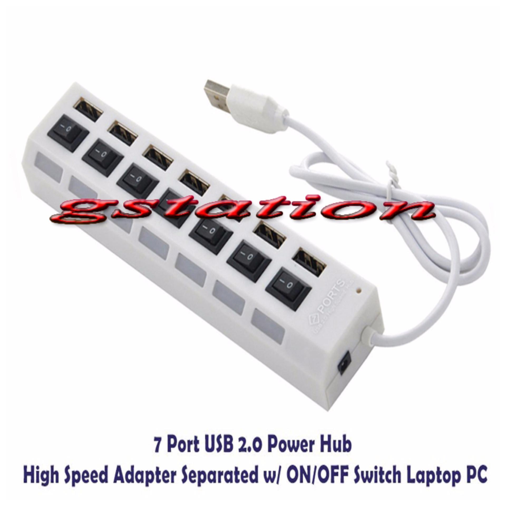 Gstation Usb 2 0 Super Hub Hi Speed Hitam Review Harga Terkini Dan Mdisk 7 Port With On Off And Led F195 20 Putih