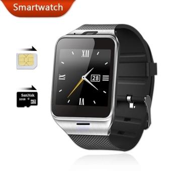 GV18 jam tangan ponsel pintar dengan 8 GB kartu memori dan Headset Bluetooth (hitam) - International - 3