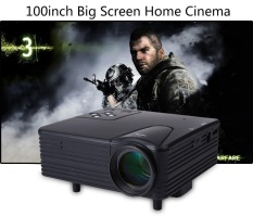 H80 Portable Mini LED LCD HomeTheater Game Projector Support PC Laptop Full HD 1080P Video With AV/VGA/USB/SD/HDMI - intl