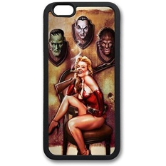 Halloween Pinup Monster Trophies Rifle Protective TPU Back Fits Cover Case for iphone 6 4.7 -1122005 - intl