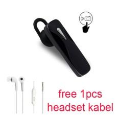 Handsfree Bluetooth + Hedset Kabel For Sony Xperia E3/Dual/E4 G/Dual - Hitam