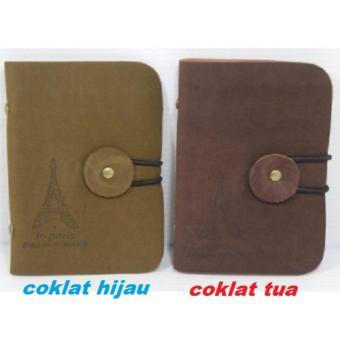 Hanifah Store - Dompet Kulit Kartu Nama Motif Paris / Wallet Card Guard Organizer 24 Card Leather - Ukuran Saku - - 4