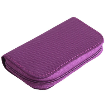 Harga Hanyu Micro SD Memory Card Storage Carrying Pouch Case HolderWallet Purple(Intl) - intl
