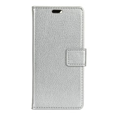 Happon Case for LG U Litchi Grain Pattern PU Leather Case with Card Slots Photo Frame - intl