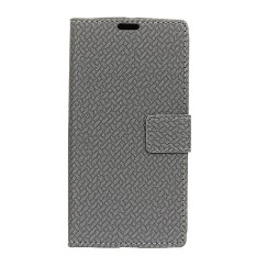Happon Case for LG U Woven Pattern PU Leather Wallet Case with Card Slots - intl