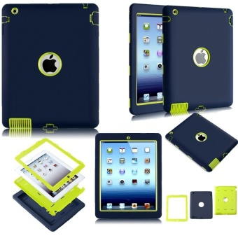 Hard Case For iPad 2 Cover Shockproof Kid Protector Case for Apple ipad 4 Ipad 3 Case Tablet Back Cover PC+Silicone Hybrid Robot - intl