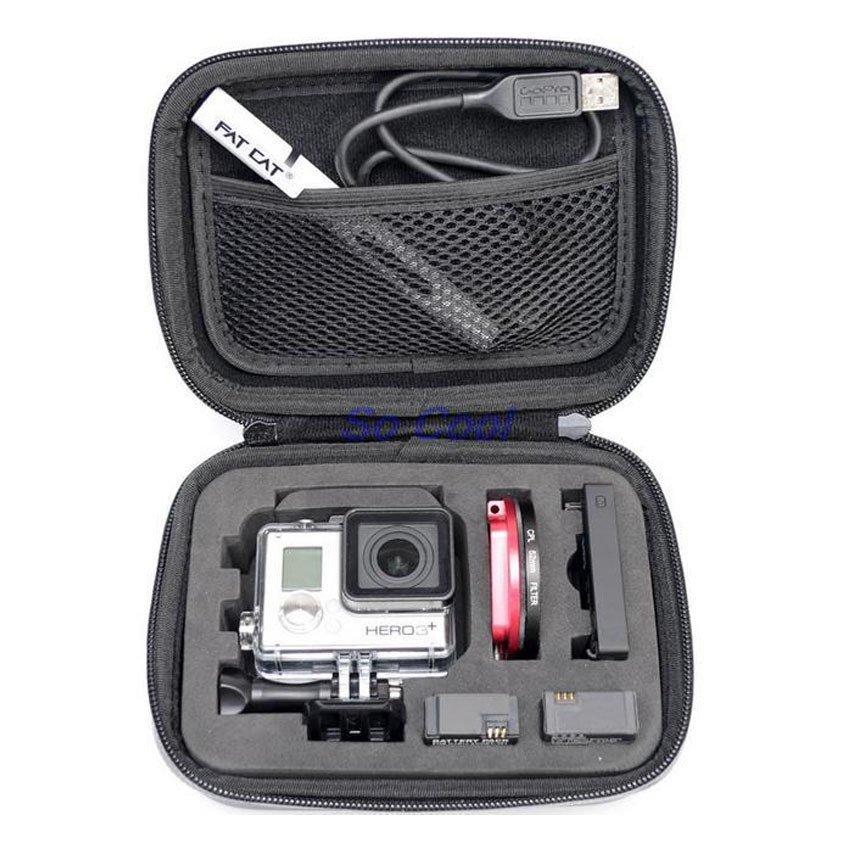 Hard Case Shockproof Waterproof Bag For Action Camera GoPro XiaomiYi Hitam