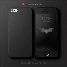 Rp 50.000. Hardcase Case 360 Iphone 5 / 5s / 5SE TANPA LUBANG Casing Full Body Cover - Hitam + Free Tempered ...