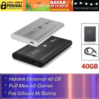 Hardisk Eksternal PS2 40GB - Support Semua FAT Series Playstation 2 - Best Quality