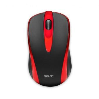Havit HV-MS675 Optical Mouse - Hitam Merah