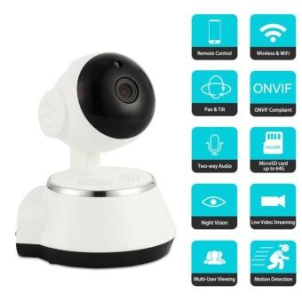 PTZ HD 960P Wireless WiFi USB Baby Monitor Alarm Q6 V380 IP Camera Audio Onvif
