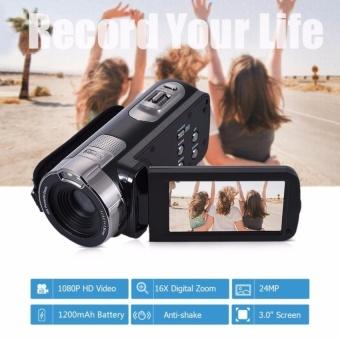 HDV-302P 3.0 Inch Layar LCD Full HD 1080 P 15FPS 24MP 16 XDigitalZoom Anti-shake Digital Video DV Kamera Camcorder-Intl