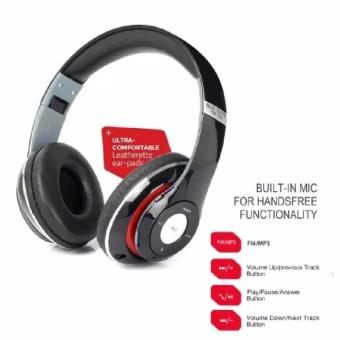Headset Bluetooth Jbl Tm 010S Stereo Bass Headphone - Hitam