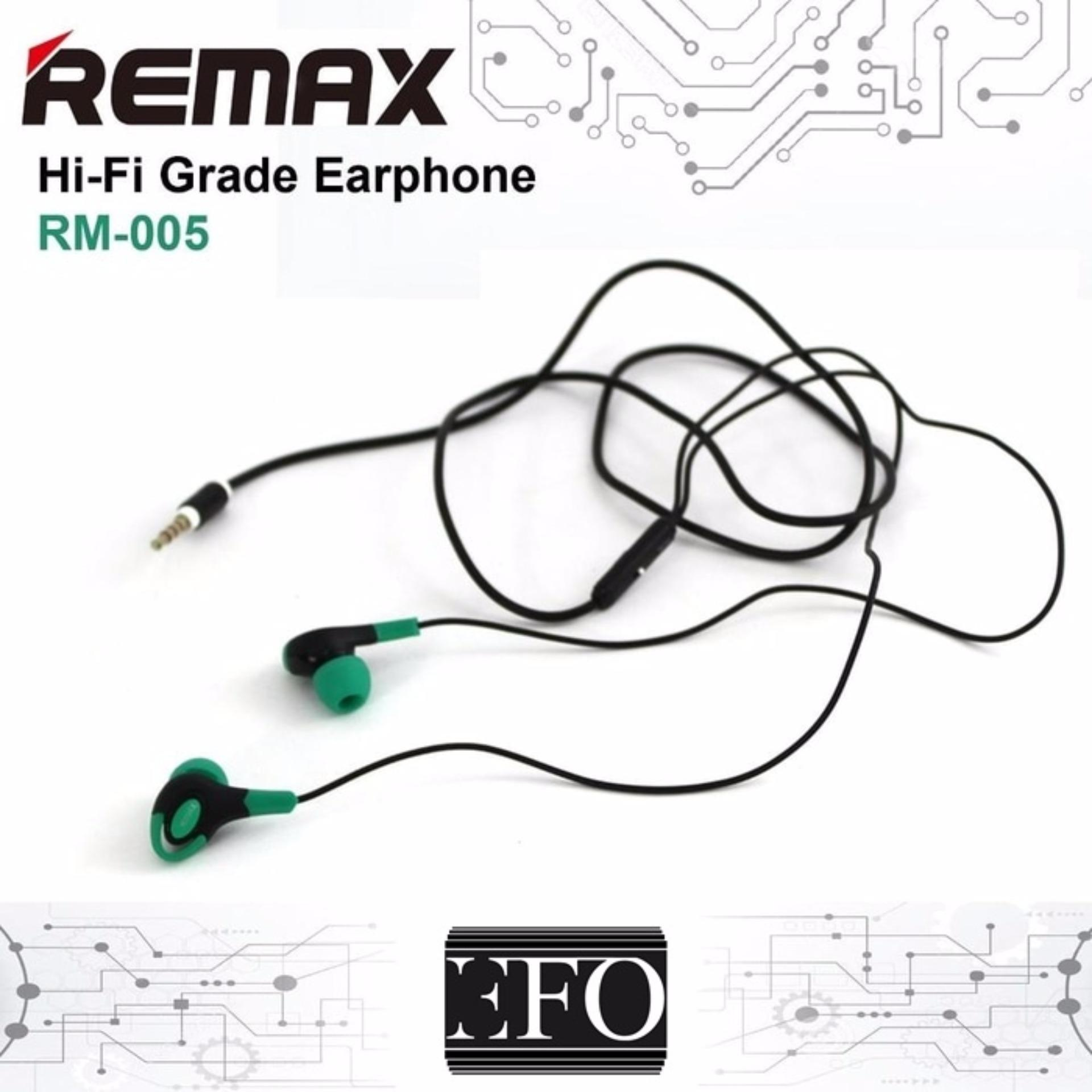 Remax 3 5mm In Ear Stereo Earphone With Microphone And Volume Handsfree Rm 305m Control Original Headset Hi Fi Bass Headphone 005