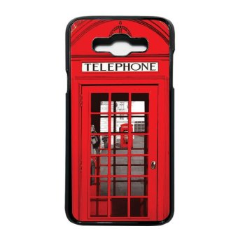 Heavencase Casing Samsung Galaxy J7 Case Motif Red Phone Box -Hitam