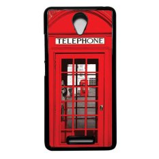 Heavencase Hard Case for Xiaomi Redmi Note 2 Motif Red Telephone Box Casing Cover - Hitam