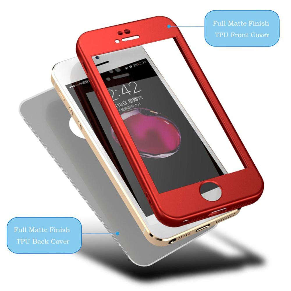 Hicase Full-Body Case Shockproof Soft TPU Matte Finish Slim Cover 2 .