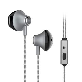 High-Fidelity Wired Earphone In-ear Super Bass Metal Headset for Smart Phone - intl