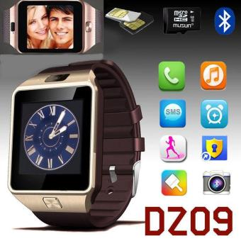 High Quality Brand New DZ09 Bluetooth Smart Wrist Watch Phone Mate For Android & IOS iPhone Samsung LG (Gold)