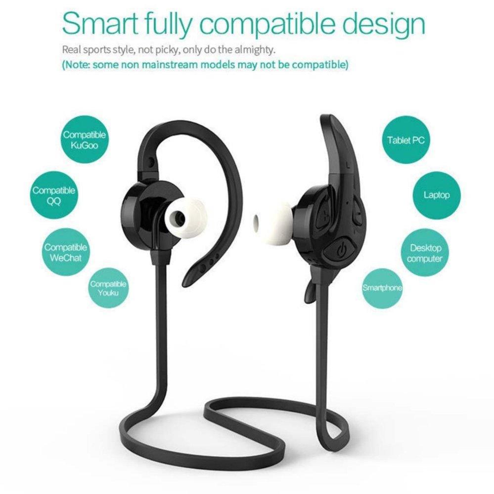 Hitam S-502 Bluetooth Headsets Olahraga Bluetooth Versi 4.1 80MHZSmartphones - intl .